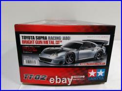 TAMIYA 1/10 RC Toyota Supra Racing A80 Bright Gun Metal TT-02 Model Kit 47433