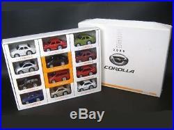 TOYOTA 1966 2006 the past COROLLA Pullback minicar 12 sets rare