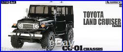 Tamiya 58564 Toyota Land Cruiser Black Body RC Car Kit WITH Tamiya ESC