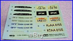 Tamiya Toyota Corolla Fx Gt Rare 1/24 Model Kit (esci, Revell, Fujimi)