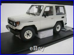 Toyota Land Cruiser Bj70 1984 White 1/18 Cult Scale Models Cml067-1