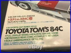 Vintage Japanese Tamiya Toyota Tom's 84C Racing Car Model Kit 124 Scale HV$