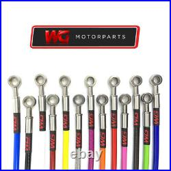 WG Rear Braided Brake Hose Kit for Toyota Starlet 1.3 Turbo EP82, EP91 Models